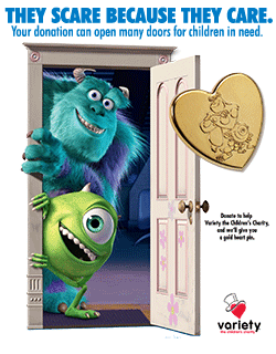 Variety Gold Heart Pin 2013 - Mike & Sully