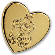 Variety Gold Heart Pin 2010