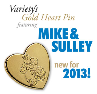 US Variety Gold Heart Pin 2013