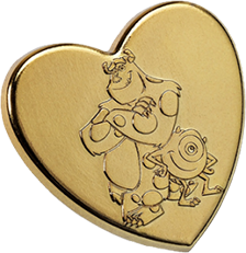 2012-2013 MIKE & SULLEY GOLD HEART PIN PRESS RELEASE-DISNEYPIXAR
