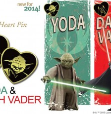 Variety's Gold Heart Pin Featuring Yoda & Darth Vader