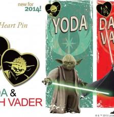 Variety's Gold Heart Pin Featuring Yoda & Darth Vader