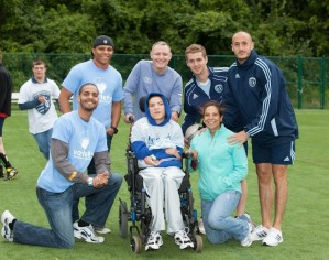 Adaptive Soccer Camp with Sporting KC -YV board members-Tent 8